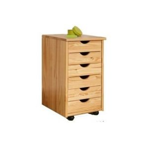 Cajonera de oficina de madera de pino