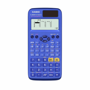Calculadora científica con acabados azules
