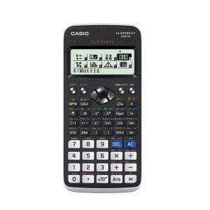 Calculadora científica en color negro y blanco