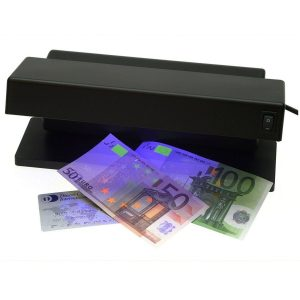 Detector de billetes falsos con dos tubos