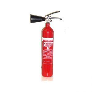 Extintor con soporte de pared y difusor