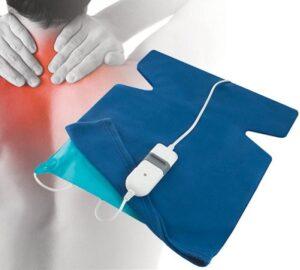 Manta eléctrica cervical para oficinas ergonómica