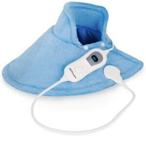 Manta eléctrica cervical para oficinas lavable