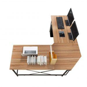 Mesa de oficina moderna de esquina