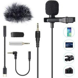 Micrófono de solapa con parabrisas