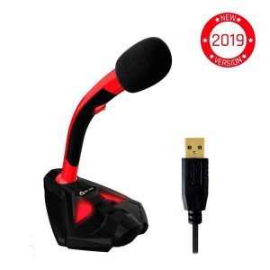 Micrófono para PC rojo