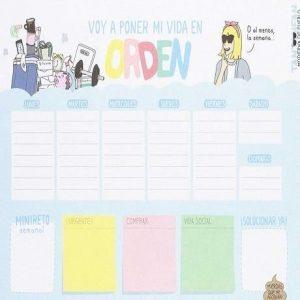 Planificador semanal con diseño moderno
